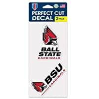"""Ball State Cardinals 4"""" x8"""" Die Cut Decal (2つ–4"""" x4""""デカール)"""