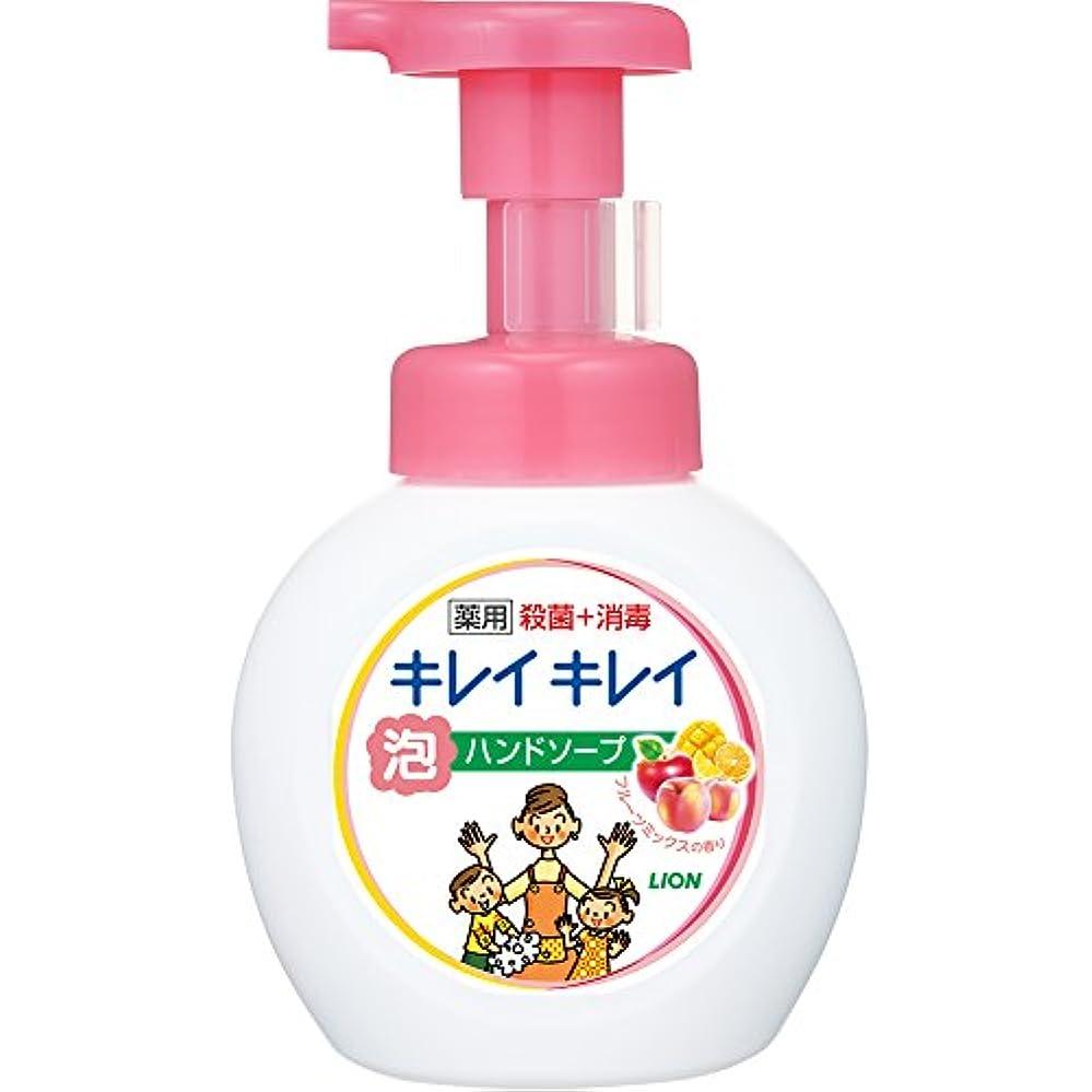 不足モーテル小学生キレイキレイ 薬用 泡ハンドソープ フルーツミックスの香り ポンプ 250mL