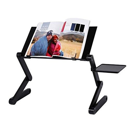 ベッドテーブル パソコンデスク PCスタンド 折り畳み式 ノートパソコンスタンド 高さ調整