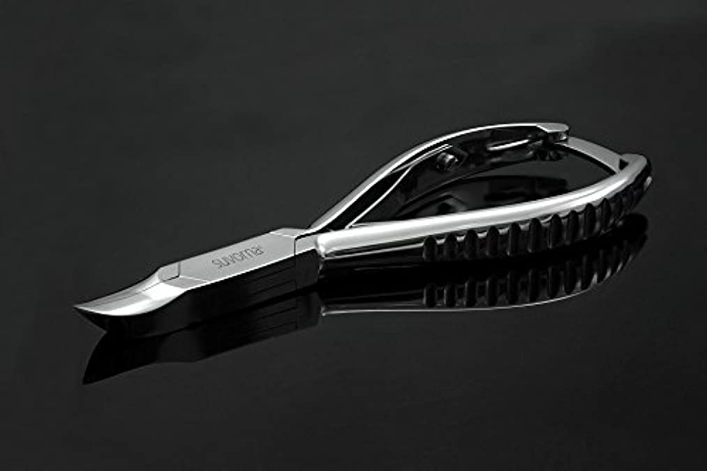 半ばくつろぐ同一性スヴォルナ プロ仕様 5.5インチ (14センチ) ペディキュア 分厚い足の爪 ニッパー 曲面顎 & バックロック 3109 (インポート)