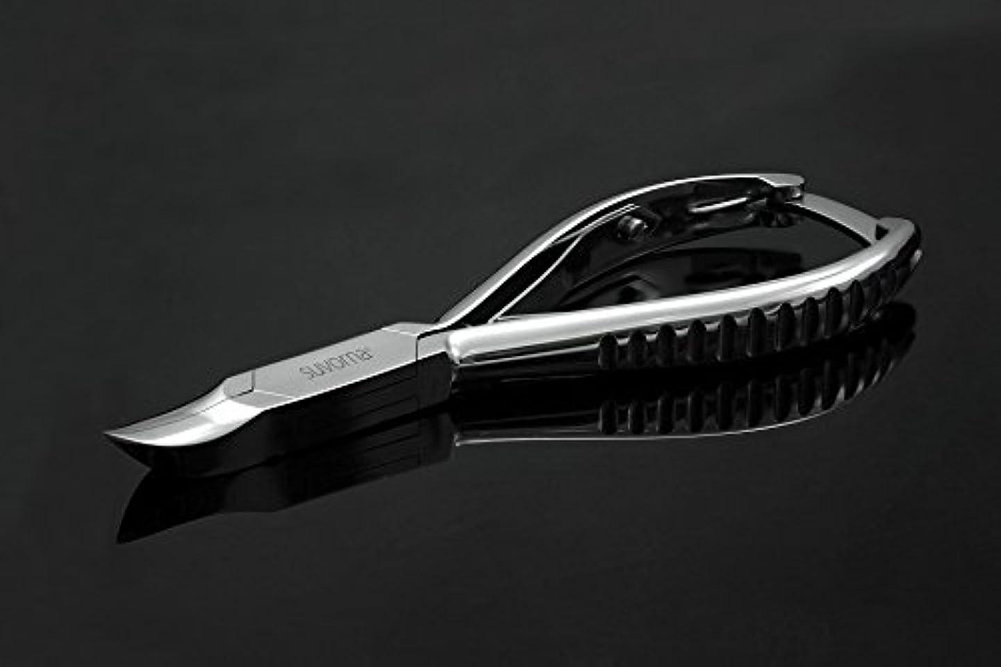 スヴォルナ プロ仕様 5.5インチ (14センチ) ペディキュア 分厚い足の爪 ニッパー 曲面顎 & バックロック 3109 (インポート)