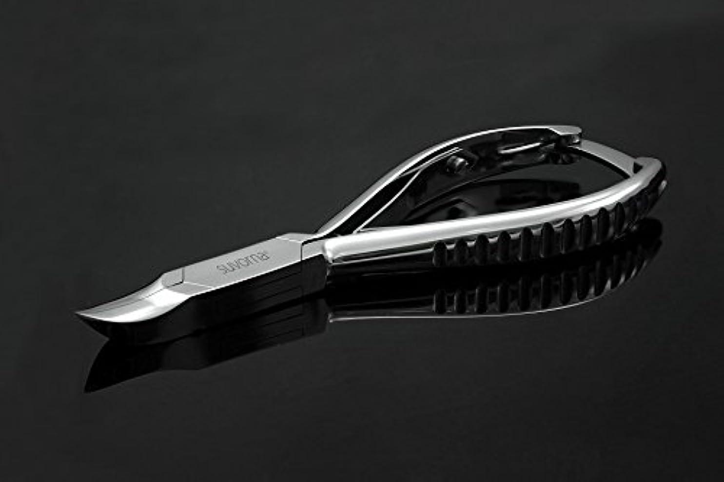 親指真鍮秘密のスヴォルナ プロ仕様 5.5インチ (14センチ) ペディキュア 分厚い足の爪 ニッパー 曲面顎 & バックロック 3109 (インポート)