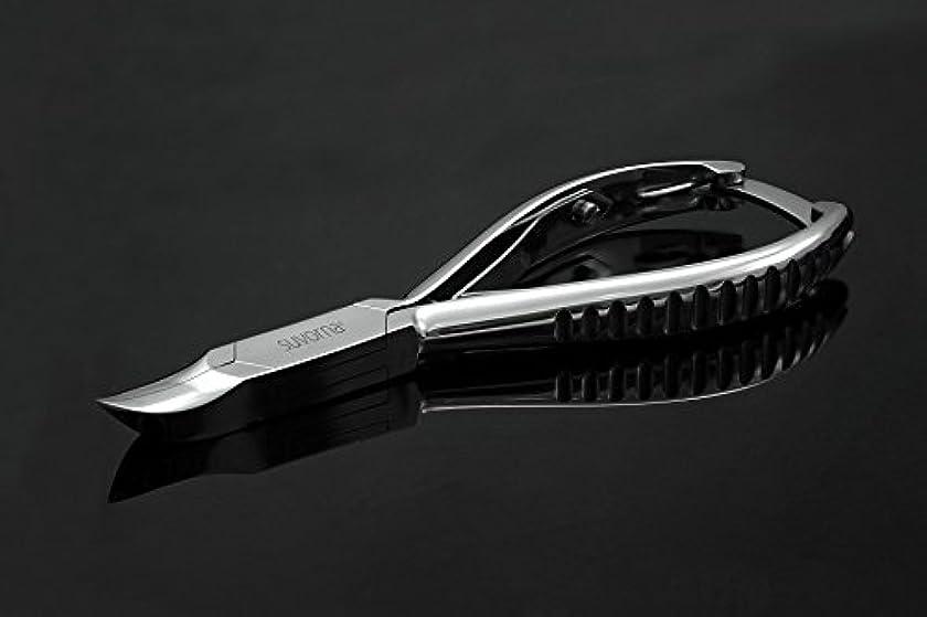 是正するブルゴーニュ冷酷なスヴォルナ プロ仕様 5.5インチ (14センチ) ペディキュア 分厚い足の爪 ニッパー 曲面顎 & バックロック 3109 (インポート)