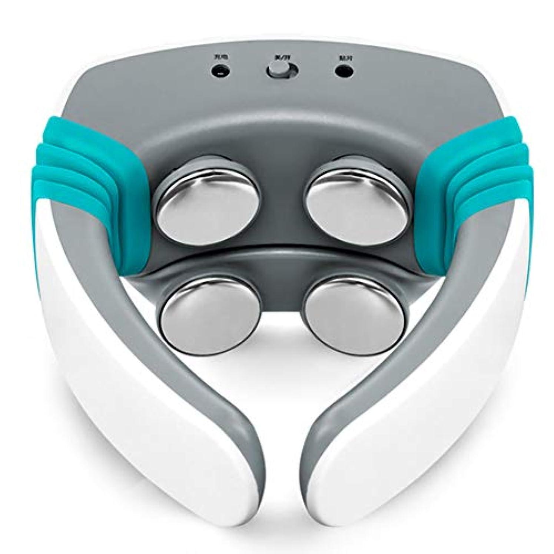 脅威量で例示するネックマッサージャー首、肩、首ネックガードメーターパルス頚椎マッサージ理学療法スマートメータージン