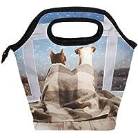 SoreSore(ソレソレ)ランチバッグ おしゃれ かわいい 弁当バッグ 保冷バッグ クーラーバッグ おもしろ 面白い ネコ 猫柄 ねこ いぬ 犬柄 お弁当袋 お弁当入れ保冷 メンズ レディース こども 通勤 通学 学校 遠足 保温 大容量 トート型