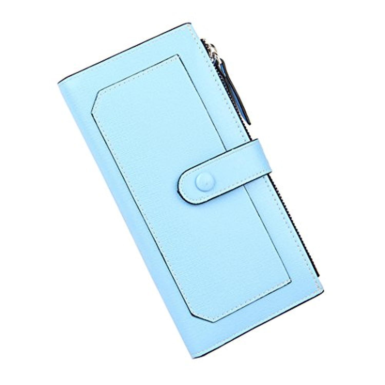 mioim ロングウォレット 女性の財布 長財布 二つ折り ボタンとファスナー付き 横漏れ防止 模様 滑り止め 手持ち ファッション 大容量 スマホも収納OK 実用的な財布