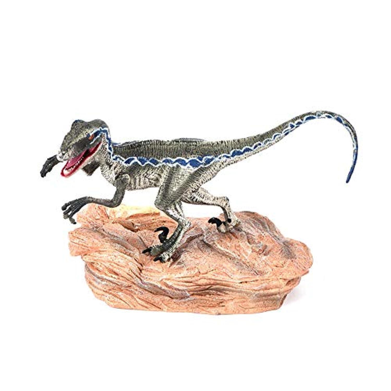 LIKESIDE ブルー ベロキラプター 恐竜 アクションフィギュア ベース アニマルモデルトイ コレクター