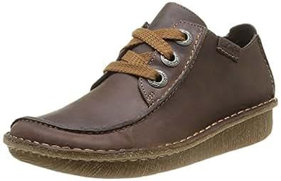 [クラークス] Clarks レースアップシューズ Funny Dream 26103462 Brown Leather (ブラウンレザー/UK 030)