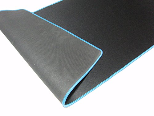 上質 な デスクへ デスクマット レザー 調 オフィス や 自宅 での 作業 に マウスパッド と しても (青) MITSU