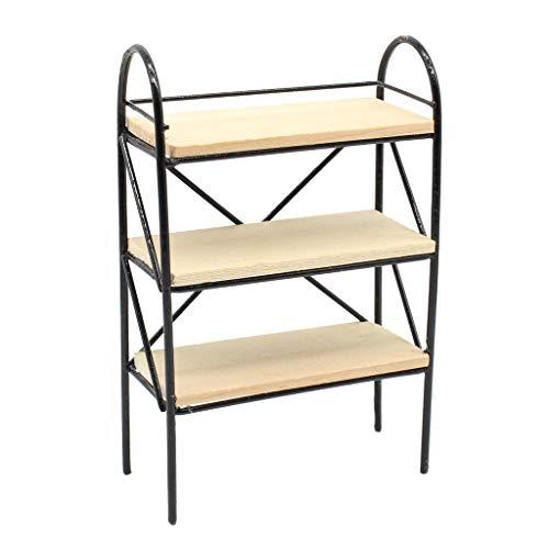 KESOTO 木製 ラックモデル 本棚 シューズラック 1/12スケール ドールハウス家具