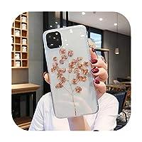 高級キラキラゴールド透明ケースiphone 11プロX XS最大XR 8 7プラス6プラスクリア電話バックカバーブリンブリンケースシェル-Style 1-For iPhone 11Pro Max