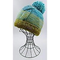 ドイツ発(MOSHIKI BRAND):メンズ、レディース POMPOM付きビーニー型ニット帽子:KABELI