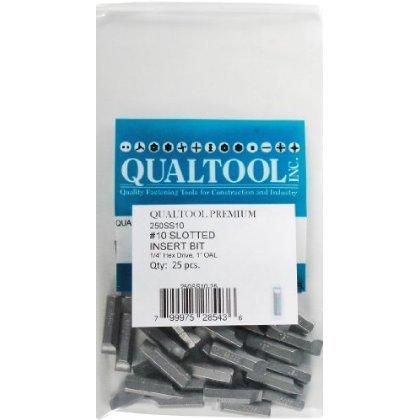 Qualtool Premium 250SS10-25 Size 10 Slotted Insert Bit, 25-Pack [並行輸入品]