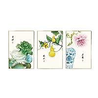 ウォールフレームペインティング 中国のスタイルのレストラン装飾的な絵画の研究ハンギング絵画キャンバスの絵画ソファの背景壁画農家の壁画 (色 : B)