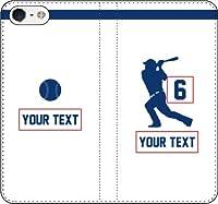 iPhone/Xperia/Galaxy/他機種選択可:野球2箇所カスタム(番号/名前) 手帳ケース(ホーム/デザイン_6:E_1) 07 iPhone8