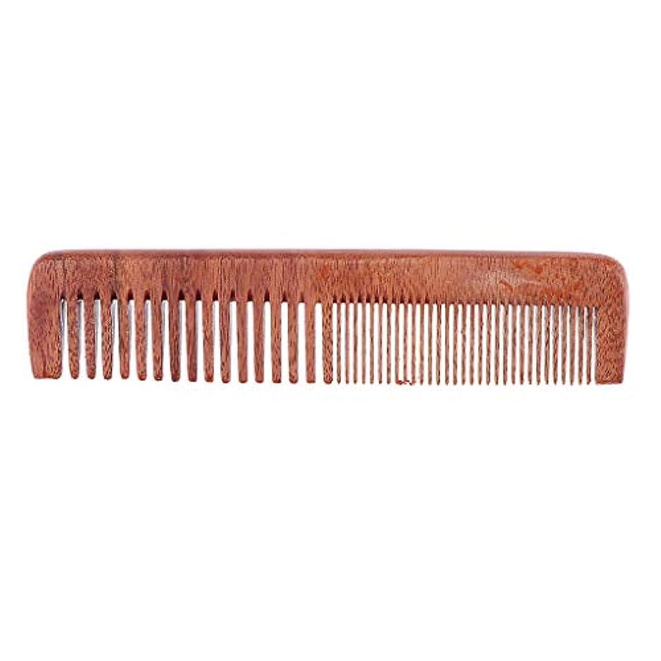 行理容師艶ヘアコーム 木製櫛 ヘアブラシ 帯電防止櫛