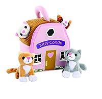 ぬいぐるみ 子猫 コンドー キャリア 4匹の猫 ぬいぐるみ おもちゃ ベビーギフト 幼児用ギフト