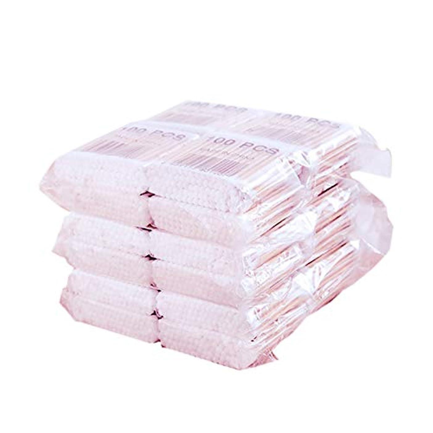 ペレット公説得SODIAL 800個/パック使い捨て綿棒 竹綿つぼみ綿棒メディカルイヤークリーニングウッドスティック 化粧健康ツール タンポン