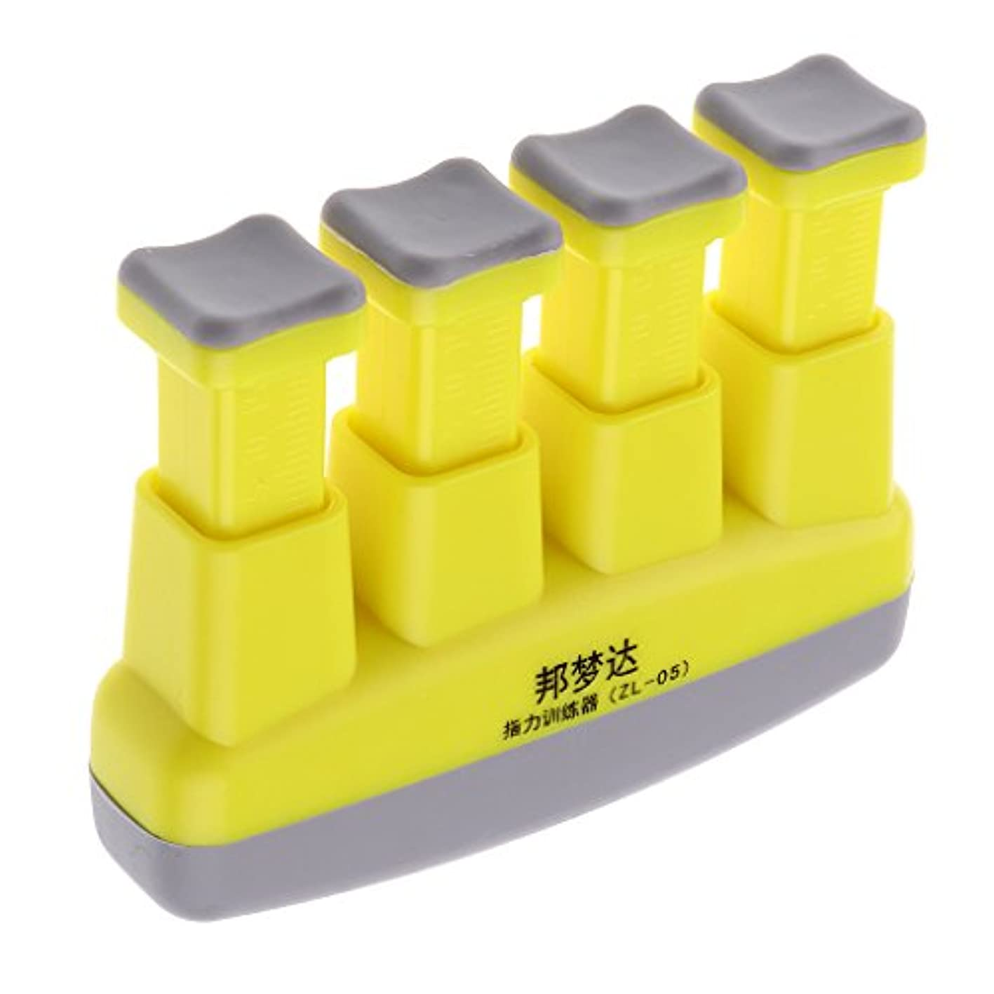 没頭する説得排出ハンドグリップ エクササイザ 4-6ポンド 調節可 ハンド 手首 腕 グリップ グリッパー 黄色 ABS +シリコン