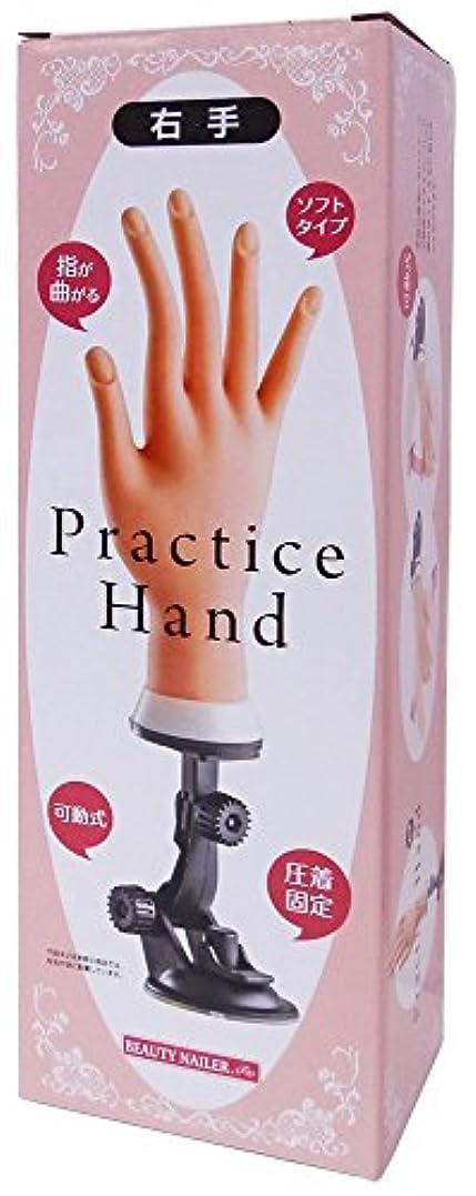 パッド言語学傘ビューティーネイラー プラクティスハンド 右手 PH-1