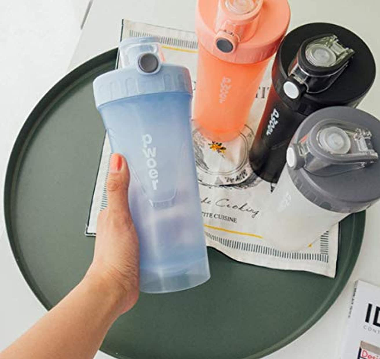 メンタル叫び声有利プロテインシェーカー 栄養錠剤ビタミン入れ ダイエットドリンク用 タンパク質パウダーミキサーボルト 栄養補給 プロテイン 収納ケース 水筒 漏れ防止 シェーカーボトル