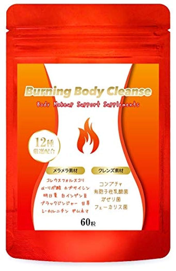周波数ストレージ電池Burning Body Cleanse ダイエット サプリメント 燃焼系 コンブチャ クレンズ 美ボディサポート 60粒/30日分