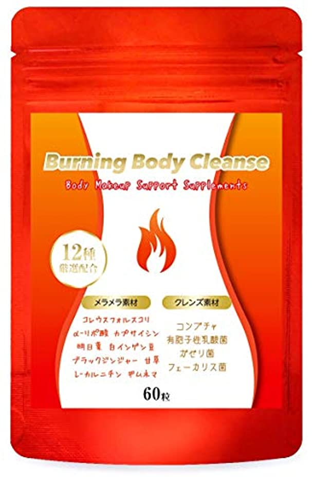 ハンカチ手入れインデックスダイエット サプリ Burning Body Cleanse 燃焼系 サプリメント コンブチャ クレンズ スリム 美ボディ サポート 60粒/30日分