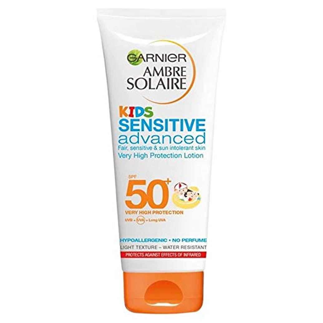 右したい翻訳[Garnier ] アンブレSolaire子供敏感日クリームローションSpf50 + 200ミリリットル - Ambre Solaire Kids Sensitive Sun Cream Lotion SPF50+ 200ml...
