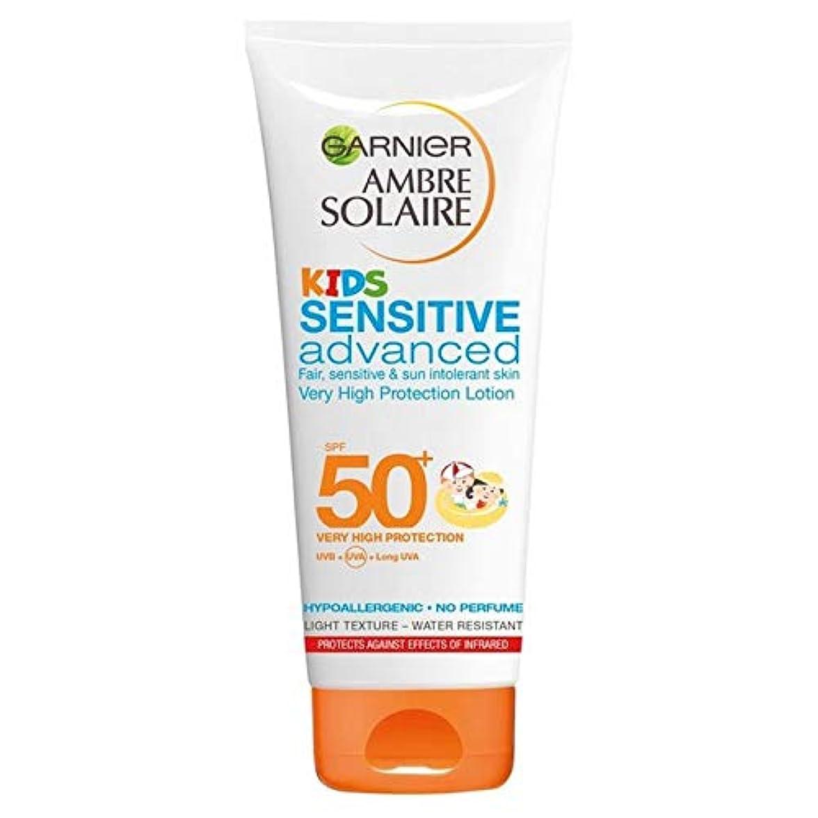 ひも魂正確な[Garnier ] アンブレSolaire子供敏感日クリームローションSpf50 + 200ミリリットル - Ambre Solaire Kids Sensitive Sun Cream Lotion SPF50+ 200ml...