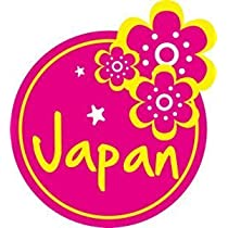 トラベルステッカー 日本 JAPAN ハイビスカス 旅行シール~スーツケース・タブレットPCに