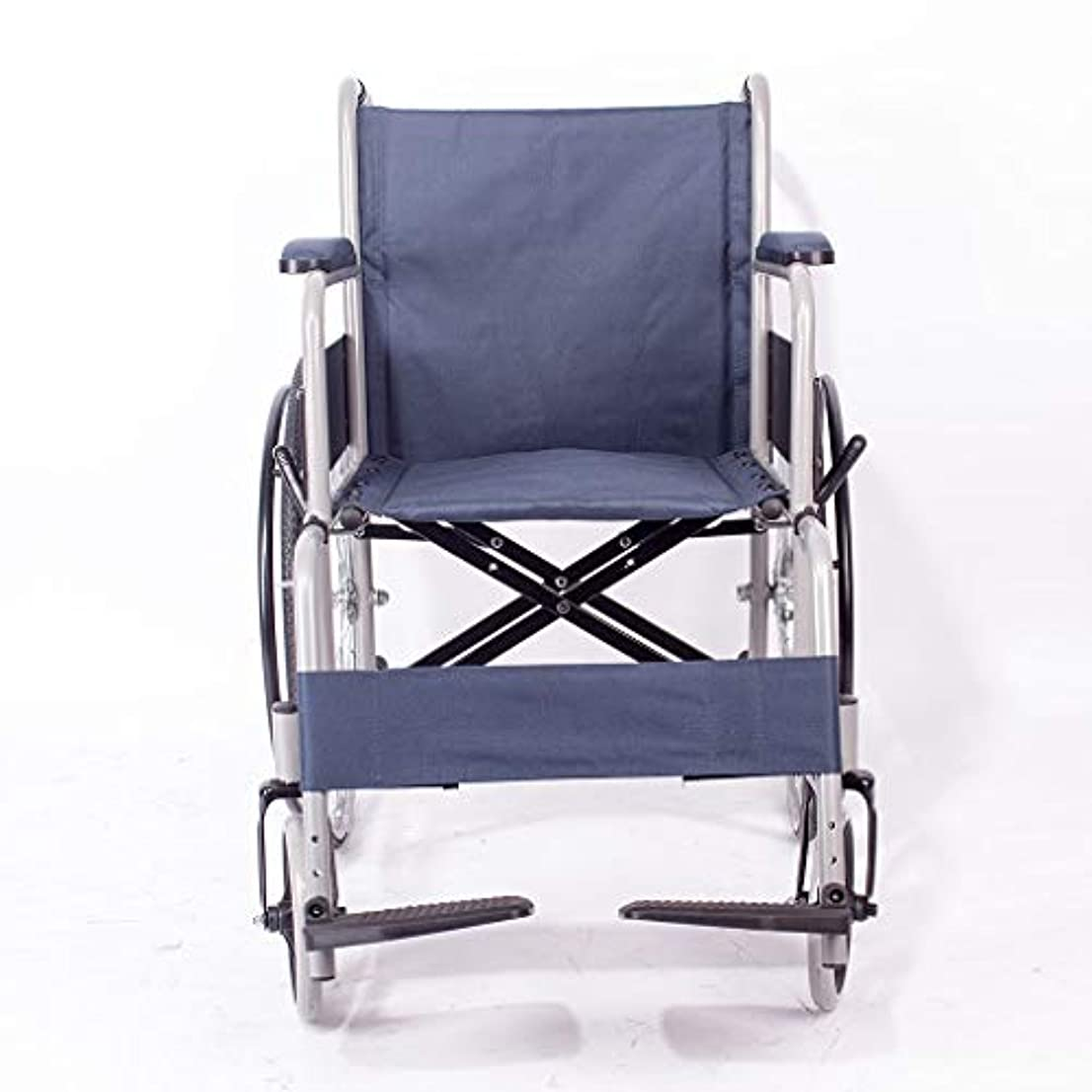 ライフル兵器庫破壊的な車椅子折りたたみ式、超軽量旅行ポータブル古いカート、ブレーキ付き自走式車椅子