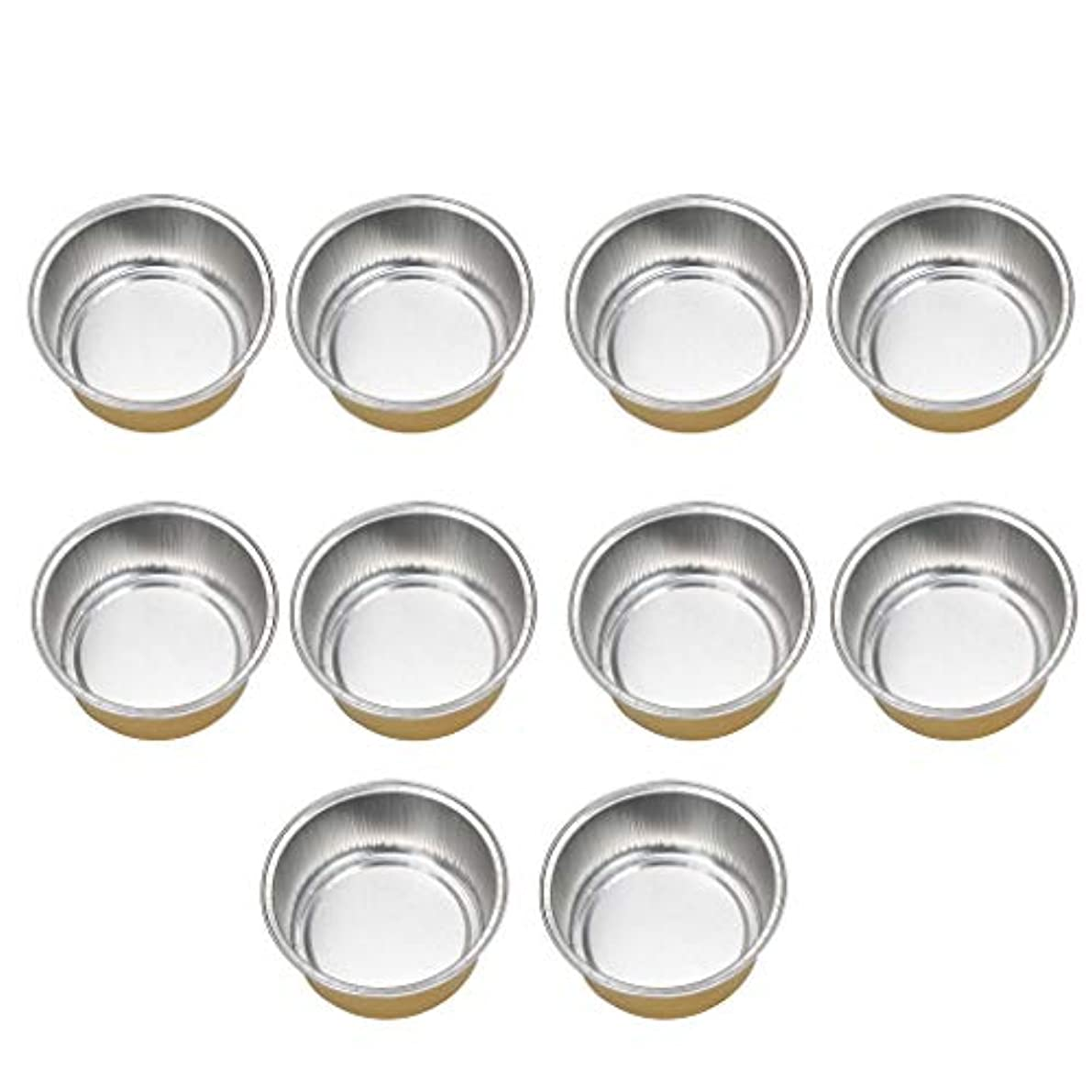 喜ぶどうしたの抽選10個入り ワックスボウル ミニボウル アルミホイルボウル ワックス豆体 溶融 衛生的 全2種類 - ゴールデン2