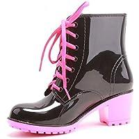 MEIGUIshop Rain Boots - Transparent Short Rubber Boots rain Boots