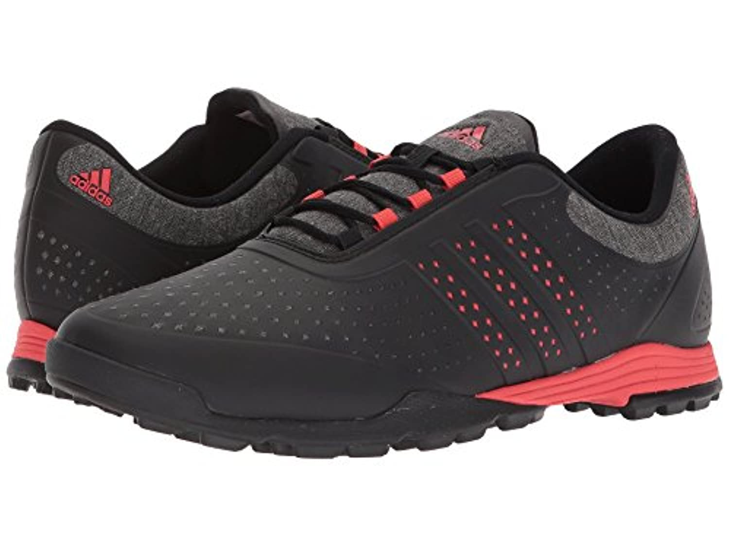 (アディダス) adidas レディースゴルフシューズ?靴 Adipure Sport Core Black/Real Coral/Core Black 5 (22cm) B - Medium