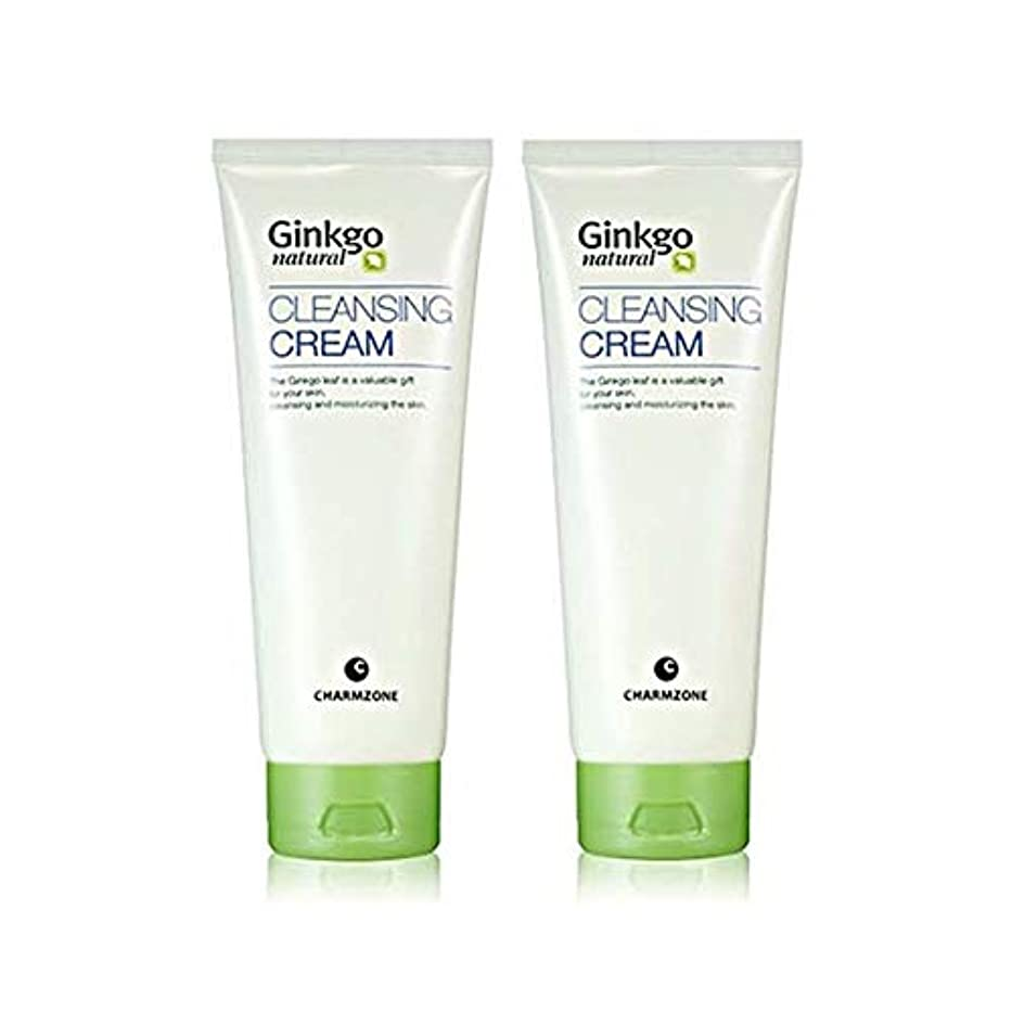 無駄だ意欲置換チャムジョンジンコナチュラルクレンジングクリーム200g x 2本セットメーキャップクレンジング、Charmzone Ginkgo Natural Cleansing Cream 200g x 2ea Set [並行輸入品]