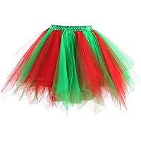 Dresstore Women's Short Vintage Petticoat Skirt Ballet Bubble Tutu Multi-Colored
