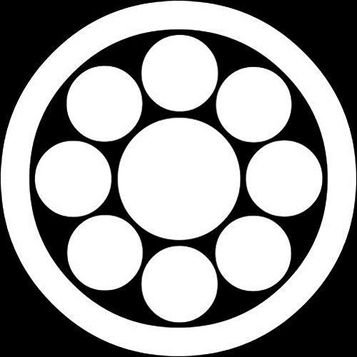 家紋シール 着物用 貼り付け家紋 6枚入り「丸に九曜」 yu KOM122