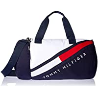 Tommy Hilfiger Tino Colourblock Canvas Duffle Bag, Navy Blazer/Classic White