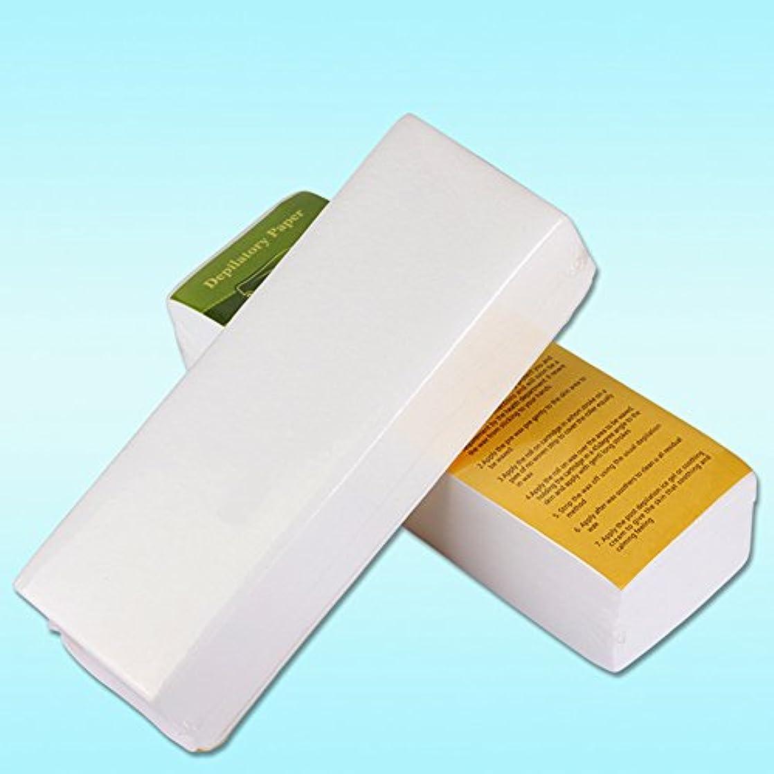 持つ長方形くぼみRabugoo 100個/セット使い捨て不織布ティッシュシェービング脱毛蜜蝋脱毛紙