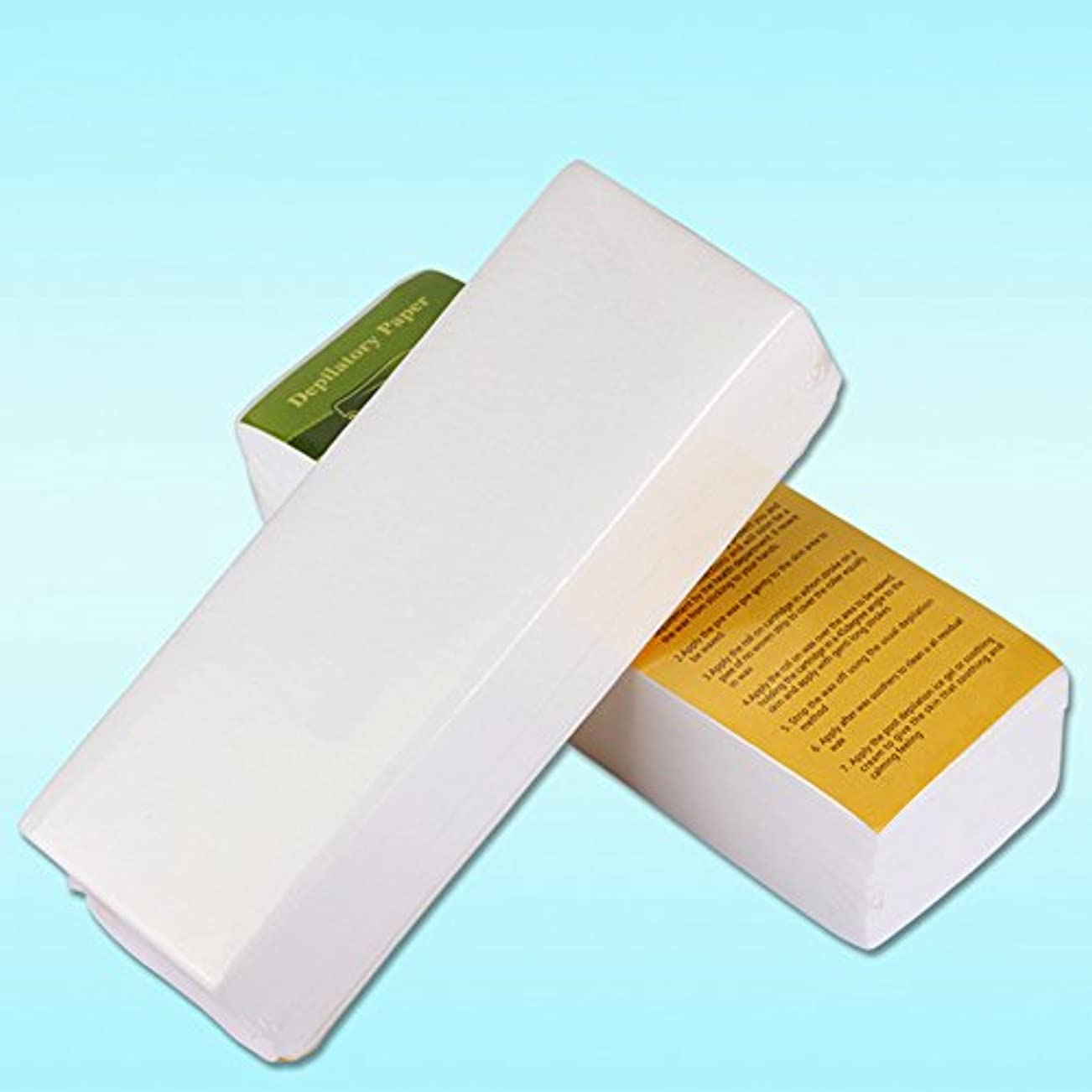Rabugoo 100個/セット使い捨て不織布ティッシュシェービング脱毛蜜蝋脱毛紙