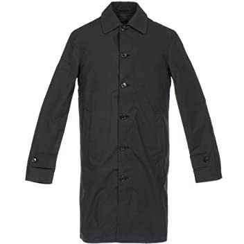 Valstar Cotton Balmacaan Coat w/ Down Liner: Black