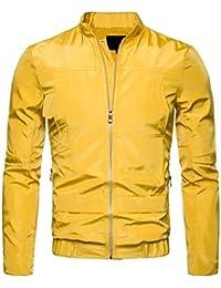 maweisong メンズ軽量ジャケットロングスリーブ防水ウィンドブレーカーボンバージャケット