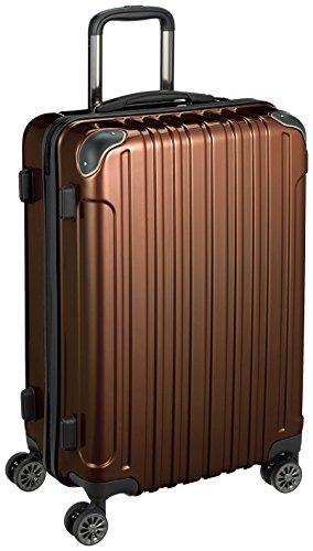 [ワイズリー] 超軽量双輪スーツケース 24インチ コーナーパッド付き TSAロック 338-2202 02 ブラウン