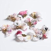 紗や工房 タッセル ボタニカル 花柄 GOLD × ピンク 25mm 10個 10ヶ ハンドメイド アクセサリーパーツ