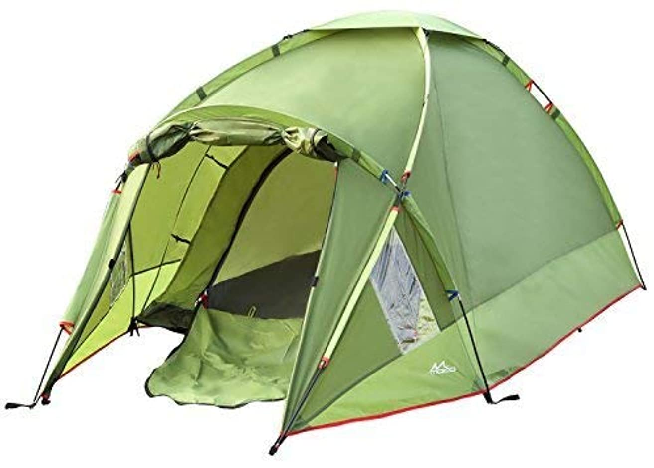 魅力的であることへのアピール動揺させるレインコートMoKo Waterproof Family Camping Tent, Portable 3 Person Outdoor Instant Cabin, 4-Season Double Layer, Army green [並行輸入品]