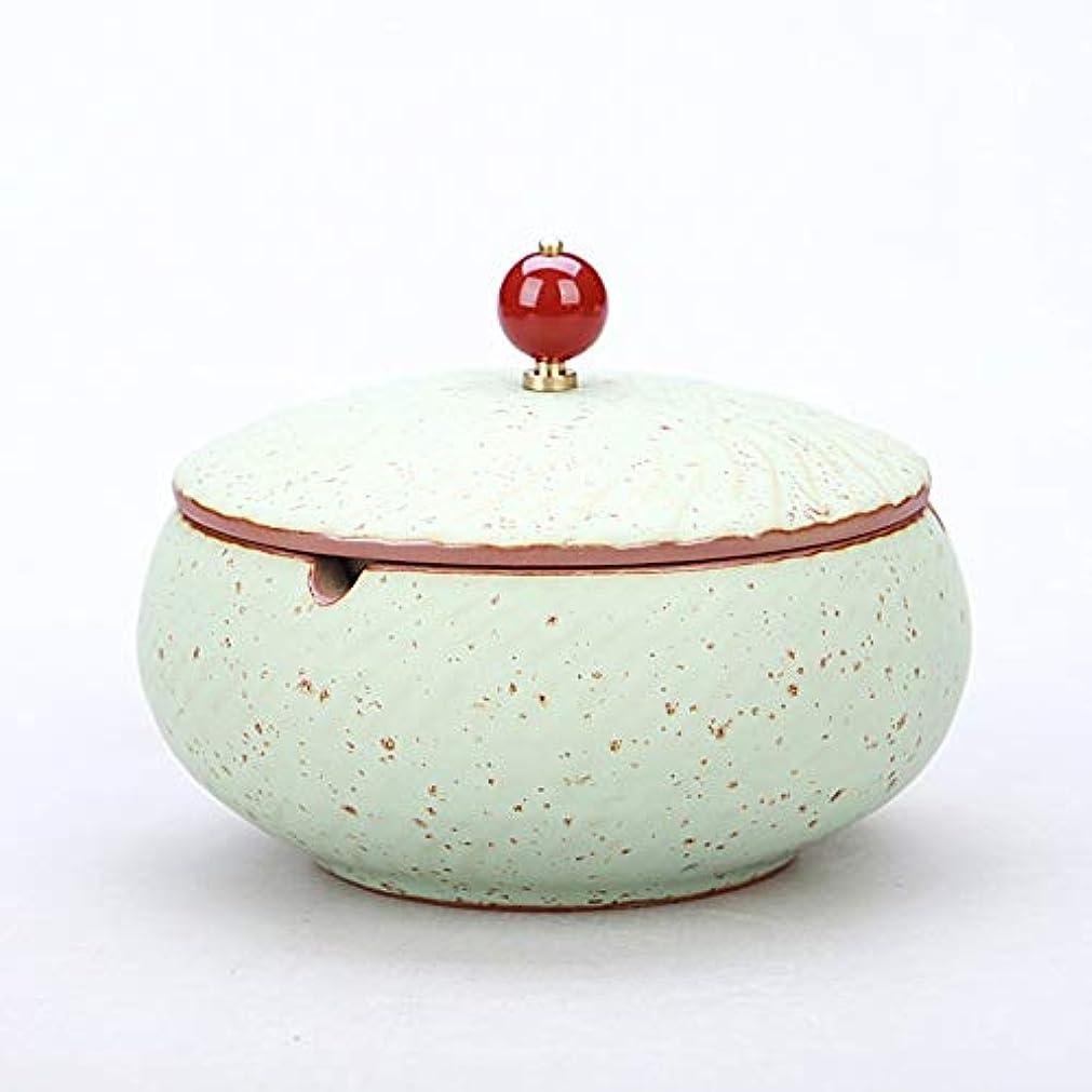 連合代数夕食を食べるふたが付いている陶磁器の灰皿、防風、喫煙者のための灰のホールダー、ホームオフィスの装飾のためのデスクトップの喫煙灰皿 (色 : ブロンズ)
