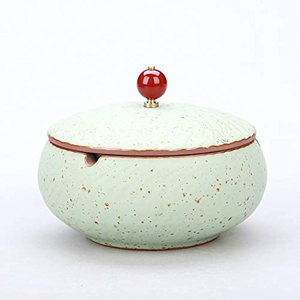 ポルトガル語入手します男やもめふたが付いている陶磁器の灰皿、防風、喫煙者のための灰のホールダー、ホームオフィスの装飾のためのデスクトップの喫煙灰皿 (色 : ブロンズ)