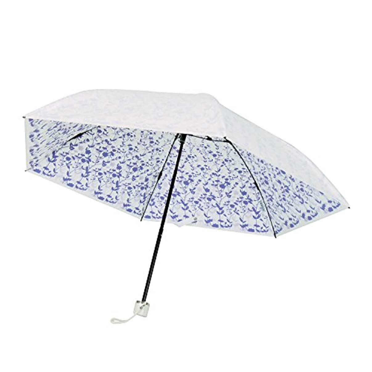 相続人水族館準備プレミアム ホワイト 折りたたみ傘 手開き 遮光 遮熱 日傘/晴雨兼用傘 リエール 全3色 パープル 6本骨 50cm UVカット 99%以上 軽量 コンパクト 3935PP