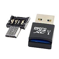 Tekit ミニサイズのタブレットのためのマイクロ USB 5 ピン OTG アダプターとマイクロ SD SDXC TF カード リーダーに USB 3.0/携帯電話