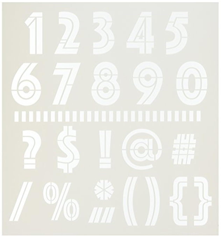 ボウルボンド災害Crafters Workshop Art Deco Numbers & More Crafter's Workshop Template, 12 by 12 by CRAFTERS WORKSHOP